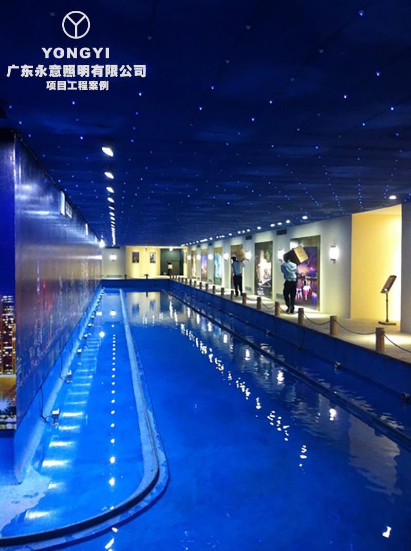 深圳市大族河山看楼通道照明工程