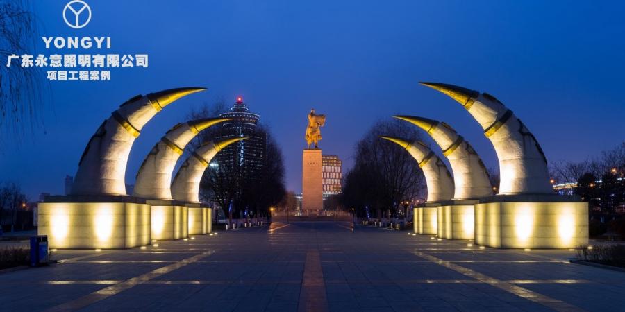 内蒙古呼和浩特成吉思汗广场