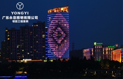 浙江临安龙庭大酒店亮化